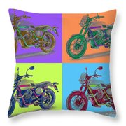 2016 Moto Guzzi V7ii Stornello - Warhol Style Throw Pillow