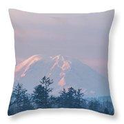 2018_3_17  Sunrise Mt. Rainier-6233  Throw Pillow