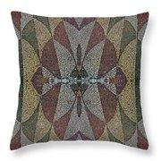 21970. Mosaic Rhythm Of Roman Baths. Throw Pillow