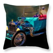 23 T Hot Rod In The Sky Throw Pillow