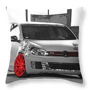 246062 Car Golf Gti Volkswagen Golf Vi Wheels Throw Pillow