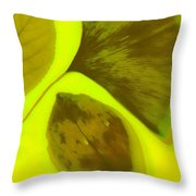 3 Leaves Series Throw Pillow