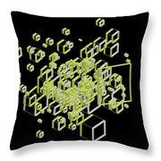 3d Futuristic Bg IIi Throw Pillow