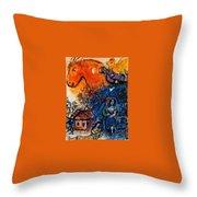4dpictfdrew3 Marc Chagall Throw Pillow