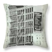 4th St Buildings Throw Pillow