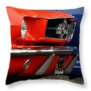 66 Mustang Fastback Throw Pillow