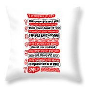 7 Principals Of For Happy Life See On Pillows Curtains Duvet Covers Tote Bags Phone Cases Posters Ca Throw Pillow