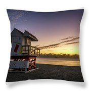 7901- Miami Beach Sunrise  Throw Pillow