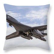 A B-1b Lancer Of The U.s. Air Force Throw Pillow