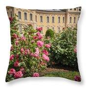 A Beautiful Rose Bush Castle Park 1 Throw Pillow