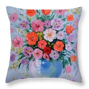 A Bouquet Of Flowers Throw Pillow