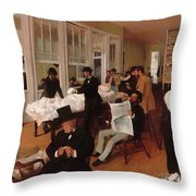 A Cotton Office In New Orleans Throw Pillow
