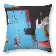 A False Painting Throw Pillow