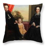 A Family Group Throw Pillow