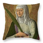A Female Saint Throw Pillow