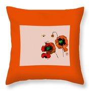 A Few Poppies Throw Pillow
