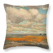 A Field Of California Poppies Throw Pillow