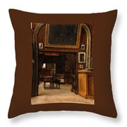 A Gallery In The Old Museum Throw Pillow