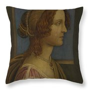 A Lady In Profile Throw Pillow