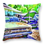 A Line Of Classic Antique Cars 3 Throw Pillow