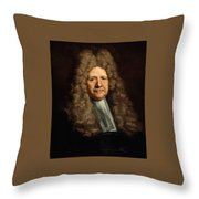 A Magistrate Painting Painted Originally Throw Pillow