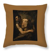 A Miser Study For Timon Of Athens Throw Pillow