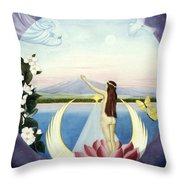 A New Life Is Born Throw Pillow