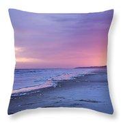 A Night On The Beach Begins Throw Pillow