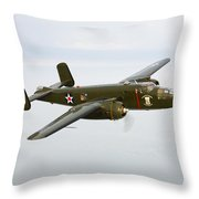 A North American B-25 Mitchell Throw Pillow