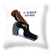 A Nubile Anubis Throw Pillow