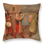 A Pageant Of Childhood Throw Pillow