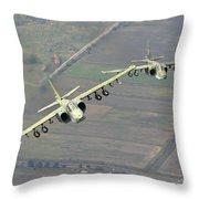 A Pair Of Bulgarian Air Force Sukhoi Throw Pillow