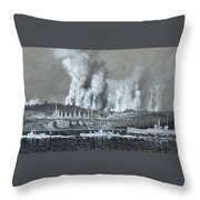 A Pair Of Industrial River Throw Pillow