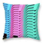 A Rainbow Of Chairs Throw Pillow