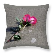 A Rose For Julie Throw Pillow