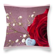 A Rose For Valentine's Day - 2 Throw Pillow