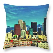 A Slice Of Los Angeles Throw Pillow