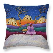 A Snowy Night Throw Pillow by Anne Klar