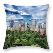 A Summer Day In Boston Throw Pillow