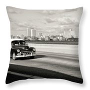 A Sunday Drive Throw Pillow