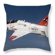 A T-45c Goshawk Training Aircraft Throw Pillow