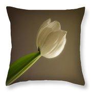 A Tulip Alone Throw Pillow