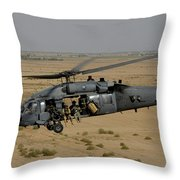 A U.s. Air Force Hh-60 Pavehawk Flies Throw Pillow