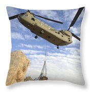 A U.s. Army Ch-47 Chinook Helicopter Throw Pillow