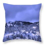 A Utah Winter Throw Pillow