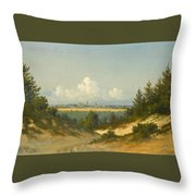 A View Of Tallinn From Nomme Throw Pillow