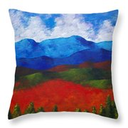 A View Of The Blue Mountains Of The Adirondacks Throw Pillow