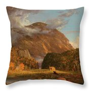 A View Of The Mountain Pass Called The Notch Of The White Mountains, Crawford Notch Throw Pillow