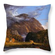 A View Of The Mountain Pass Called The Notch Of The White Mountains Throw Pillow