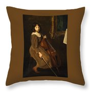 A Young Violoncellist Throw Pillow